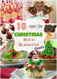 10 Super Fun Christmas Rice Krispie Treat Ideas