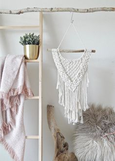Small Macrame Wall Hanging, Driftwood Wall Art, Woven Wall Hanging - Add some good vibes to your office with a macrame wall hanging or macrame plant hanger! Perfect for - Modern Bohemian Decor, Bohemian Furniture, Boho Decor, Modern Decor, Boho Chic, Bohemian Bedding, Bohemian Tapestry, Wall Tapestry, Driftwood Wall Art