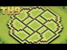 CLASH OF CLANS - Town Hall 9 (TH9) New Farming Base (The Circle) + Replays  2016