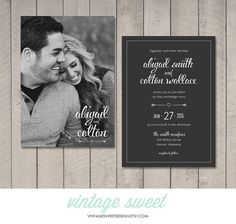 Wedding Invitation Printable DIY by Vintage by vintagesweetdesign