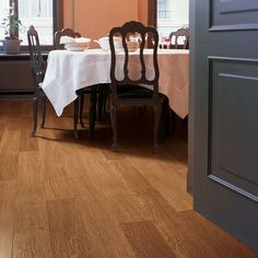 Quick-Step laminate flooring is the UK's leading brand of laminate flooring featuring a vast range of styles, décors and textures, which includes both wood and tile effect designs. Quick Step Flooring, Laminate Flooring, Perspective, Interiors, Traditional, Dark, Wood, Modern, Design