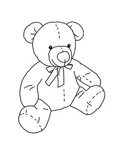 14 Best Teddy Bear Coloring Pages images