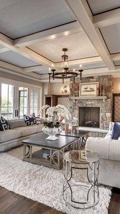 Best Modern Rustic Living Room Decor Ideas You Need To Design 5909 Chic Living Room, Living Room Decor, Dining Decor, Dining Tables, Luxury Interior, Home Interior Design, Interior Ideas, Luxury Decor, Best Ceiling Designs