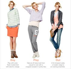 Women figs. Editorial. Casual.