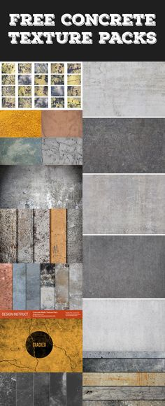 A collection of #free #concrete #textures and #backgrounds   #graphicdesign #freebie #webdesign