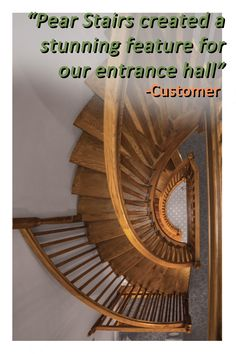 This feature staircase was designed with the wow factor in mind. The client's clear vision was brought to life by our diligent design team to provide a breathtaking finish. An all-oak, cut-string construction is complemented by the turned newels and chamfered spindles to give this beautiful home a stunning centrepiece.