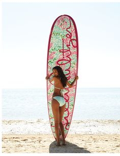 Lilly Pulitzer surf board