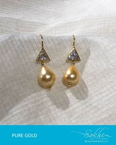 #goldearrings #goldearringsforwomen❤ #goldearringsph #earrings Gold Hanging Earrings, Gold Earrings For Kids, Gold Jhumka Earrings, Jewelry Design Earrings, Gold Earrings Designs, Gold Jewellery Design, Necklace Designs, Kids Earrings, Pearl Earrings