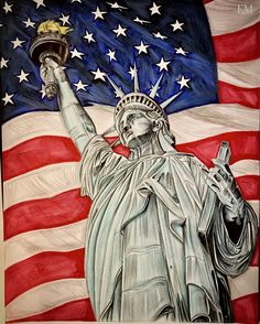 Some awesome Statue of Liberty artwork! Personally hand drawn.   #nyc  #statueofliberty  #artwork  #americana  #3d  #drawings  #world  #freedom  #losangeles  #east  #la  #american  #cali  #east  #la  #eastcoast  #drawing  #west  #french  #newyork  #page  #peace  #france  #gift  #flag  #liberty  #usa  #portrait
