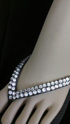 64cb0296140d9 Swarovski Rhinestone Crystal Bridal Flip Flops by IslandToes www.etsy .com shop
