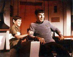 Leonard Nimoy and his son.