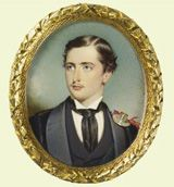 Prince Alfred, Queen Victoria's son.  The artist who painted this miniature went against the Queen's wishes.  Read about it here:    www.royalcollecti...