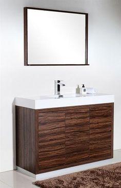 Kube Bath KubeBath Bliss Inch Singlesink Bathroom Vanity Gray - 48 inch modern bathroom vanity