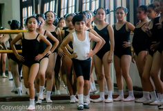 Students practice routines during classes in the National Academy of Ballet and Dance, in Guatemala City.