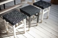 Lace Crocheted Stool Covers