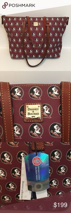 NWT Dooney & Bourke FSU Tote Any Seminole fans out there?? Well you will love this GORGEOUS Seminole tote by Dooney & Bourke! Brand New with Tags Intact! 5 star seller ⭐️⭐️⭐️⭐️⭐️ Dooney & Bourke Bags Totes
