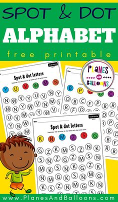Spot and dot letter worksheets FREE printable alpahbet PDF