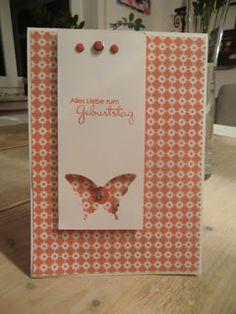 Stampin Up Geburtstagskarte mit Stanze Eleganter Schmetterling