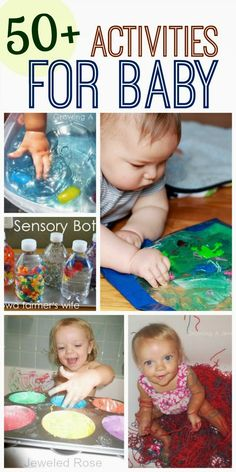 Here are over 50 FUN activities perfect for young babies (and toddlers too)