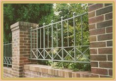Modern Concept Iron Gates And Fences With Type Of Fence Or Wall: Wood Masonry Block Wrought Iron Vinyl Fence Or 15 Iron Fence Gate, Wrought Iron Fences, Iron Gates, Metal Fences, Fence Gates, Fence Landscaping, Backyard Fences, Pool Fence, Front Yard Fence