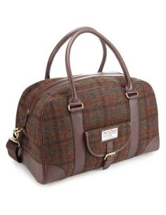 e7c4108970b Pure Wool Harris Tweed Holdall Plaid Decor