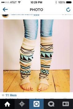 fun leg warmers on instagram