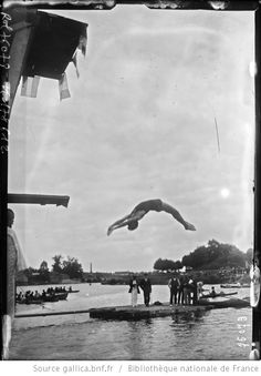 9/7/22, La Maltournée [Le Perreux-sur-Marne], championnat de Paris [de natation], plongeon de Delbord : [photographie de presse] / [Agence Rol] - 1