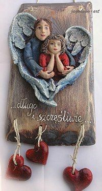 Diy Clay, Handmade Polymer Clay, Clay Crafts, Clay Art Projects, Ceramics Projects, Paper Clay Art, Clay Angel, Clay People, Ceramic Angels