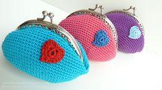 st. valentin crochet purses