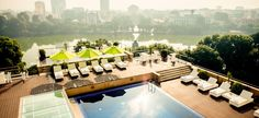 Apricot Hotel's rooftop swimming pool is the perfect spot to enjoy views of Hanoi and Hoan Kiem Lake and fresh dips in the cool water. Travel Around The World, Around The Worlds, Top 5, Hanoi, Jacuzzi, Hotel Offers, Rooftop, Vietnam, Swimming Pools
