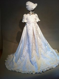 Angela West Christening gown set Constance by angelawesthgowns