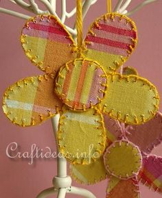 Recycling Craft - Cardboard and Fabric Flowers