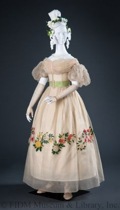 Evening dress, 1820′s From the Helen Larson Historic Costume Collection at the FIDM Museum
