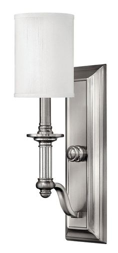 Hinkley Lighting H4790 1 Light Indoor Wall Sconce from the Sussex Collection Brushed Nickel Indoor Lighting Wall Sconces Up Lighting