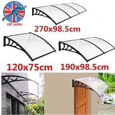 Panana Door Canopy Awning Rain Shelter Front Back Porch Outdor Shade Patio  Cover