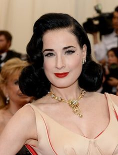 fcab9132f4 Dita Von Teese - the classic pin up looks with strong brows