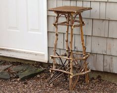 Rustic Birch Bentwood Side Table