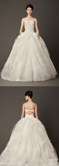 Lisbeth, wedding dress by Vera Wang (fall 2013 collection)