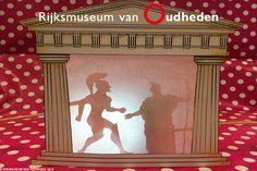 In het oude Griekenland was het theater een van de belangrijkste zaken in het dagelijks leven. Het theater is ontstaan als ritueel binnen de cultus van de god Dionysos. Het heeft zich ontwikkeld tot het begin en de basis van de westerse theatergeschiedenis. Jij kan nu zelf ook verhalen voor het theater gaan bedenken met dit leuke schaduwtheater! Klik op de afbeelding voor de uitleg.
