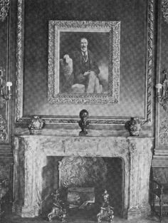 Library Mantle with Portrait of John Jacob Astor