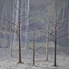 Buy John Lewis Pre-Lit Paper Birch Christmas Tree, White, 6ft Online at johnlewis.com