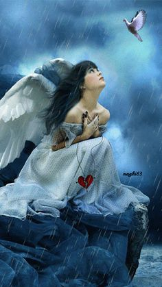 Fantasy Angel with Broken Heart Wallpaper and Background Image Fantasy Angel, Fantasy Art, Gothic Angel, Gothic Art, Final Fantasy, Angels Among Us, Angels And Demons, Angel Artwork, Angel Paintings