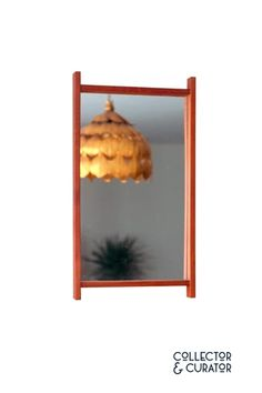 Collector & Curator ~ Products ~ Teak Rectangular Frame MCM Mirror ~ Shopify Mid Century Modern Design, Teak, Mid-century Modern, Mirror, Frame, Home Decor, Products, Picture Frame, Decoration Home