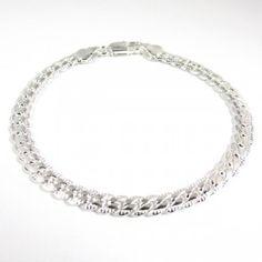 Fiche produit de la gourmette à maille anglaise Paris, Lifestyle, Bracelets, Silver, Diamonds, Jewelry, Fashion, Fashion Styles, Bangle Bracelets