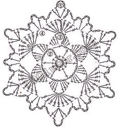 Crochet Snowflake Pattern, Crochet Stars, Crochet Circles, Crochet Snowflakes, Doily Patterns, Thread Crochet, Knit Or Crochet, Crochet Motif, Crochet Designs