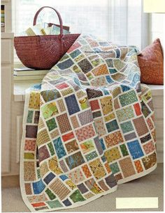 Fabric Fusion Quilt Pattern Pieced BK