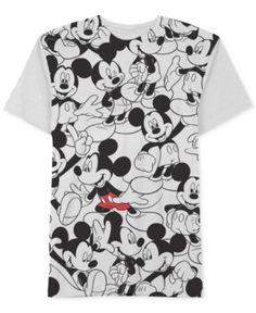 Jem Men's Repeating Mickey Mouse Disney T-Shirt - White Mickey Shirt, Disney Shirts, Disney Outfits, Disney Clothes, Kids Outfits, Casual Outfits, Mens Cotton T Shirts, Tee Shirts, Mickey Mouse T-shirt