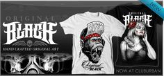 Introducing Original Black  The brand name pays homage to its original media (ink, graphite, paint, etc.) and the journey from its original canvas to the printed inks on the presented garment. All of the works are hand illustrations created with a variety of artists and techniques. Take a min to check out what's new from Original Black at Club Urban