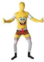 SpongeBob Second-Skin-Suit Lizenzware gelb-weiss aus der Kategorie Morphsuits. Verwandeln Sie sich in den wohl bekanntesten Schwamm aller Zeiten, der im malerischen Bikini Bottom zu Hause ist! Einfach ein originelles Faschingskostüm für Herren, das die Aufmerksamkeit auf sich ziehen wird!