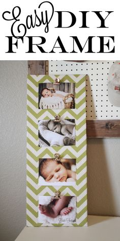 A DIY picture frame is a great upcycling project that makes a great DIY gift. This easy craft idea also adds to any DIY home decor & keep memories preserved. Fun Crafts, Diy And Crafts, Diy Casa, Simple Pictures, Baby Pictures, Photo Craft, Diy Photo, Picture Craft, Crafty Craft